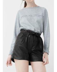 Mango | Belt Shorts | Lyst