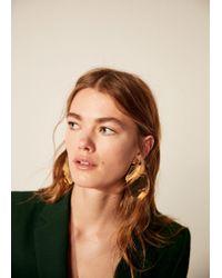 Mango - Face Earrings - Lyst
