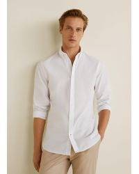 Mango - Slim-fit Cotton Shirt - Lyst