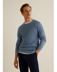 Mango - Flecked Cotton-blend Sweater - Lyst