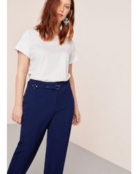 Violeta by Mango - Belt Straight-fit Trousers - Lyst