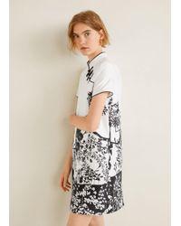 Mango - Oriental Print Dress - Lyst