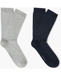 Mango - 2 Pack Polka-dot Socks - Lyst