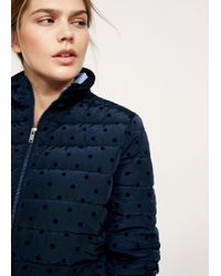 Violeta by Mango - Polka Dot Quilted Anorak - Lyst