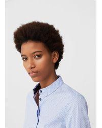 Mango - Printed Cotton Shirt - Lyst