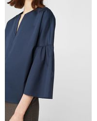 Mango - Flared Sleeves Cotton Blouse - Lyst