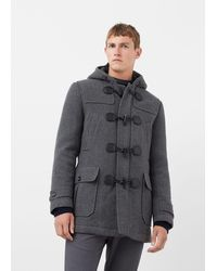 Mango Lightweight Feather Down Jacket in Green for Men | Lyst