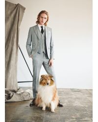 Mango - Slim-fit Wool Suit Gilet - Lyst