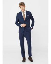 Mango - Modern Slim-fit Patterned Suit Blazer - Lyst
