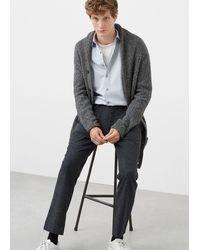 Mango - Flecked Wool-blend Trousers - Lyst
