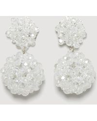 Mango - Faceted Crystal Earring - Lyst