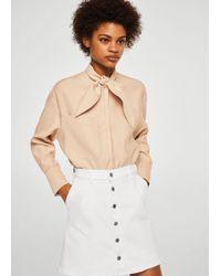 Mango - Buttoned Denim Skirt - Lyst