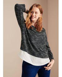 Violeta by Mango - Shirt Hem Textured Sweatshirt - Lyst