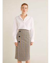 Mango - Prince Of Wales Skirt - Lyst