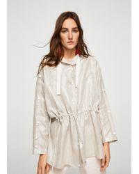 Mango - Oversize Linen Jacket - Lyst