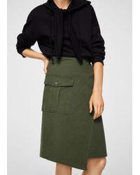 Mango - Pocket Wrap Skirt - Lyst