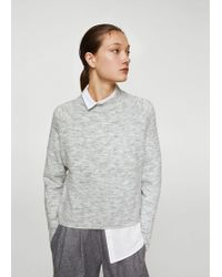 Mango - High Collar Sweater - Lyst