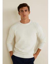 Mango - Cotton Linen-blend Sweater - Lyst