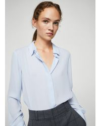 Mango - Concealed Button Shirt - Lyst