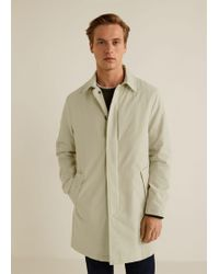 Mango - Buttons Cotton Trench - Lyst