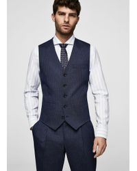 Mango - Slim-fit Wool Suit Gilet - Lyst