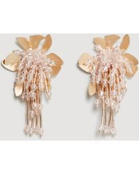 Mango - Flower Beaded Earrings - Lyst