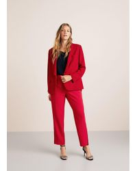 Violeta by Mango - Flowy Suit Blazer - Lyst