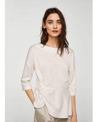 Mango - Knot Detail T-shirt - Lyst
