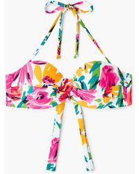 Mango | Printed Bikini Top | Lyst