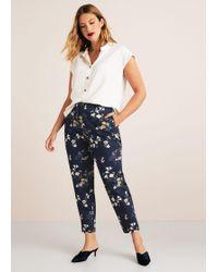 Violeta by Mango - Flowers Cotton Trousers - Lyst