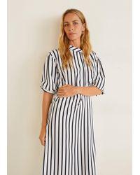 Lyst - Mango Flowy Long Dress in Black d163e74d2