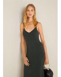 Mango - Ribbed Jersey Dress - Lyst