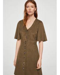 Mango | Buttoned Dress | Lyst