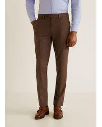 Mango - Slim-fit Suit Pants - Lyst