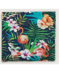 Violeta by Mango - Tropical Printed Foulard - Lyst