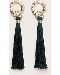 Violeta by Mango - Fringed Metallic Earring - Lyst