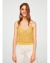 Mango - Open Knit Top - Lyst