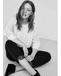 Violeta by Mango - Lace Slim Jeans - Lyst
