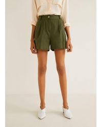 Mango - Pleated Shorts - Lyst