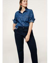 Violeta by Mango | Cotton Crop Trousers | Lyst