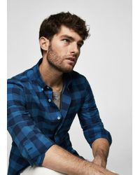 Mango - Slim-fit Checked Cotton Shirt - Lyst