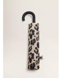 Mango - Leopard Print Umbrella - Lyst