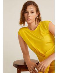 Mango - Chain Earrings - Lyst