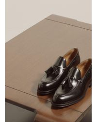 Mango - Leather Loafers With Tassels - Lyst