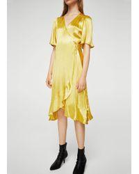 Mango - Ruffle Wrap Dress - Lyst