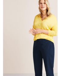 Violeta by Mango - Straight Cotton Trousers - Lyst