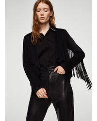 Mango - Fringed Jacket - Lyst