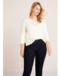 Violeta by Mango - Decorative Appliqué Sweater - Lyst