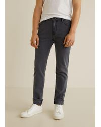 Mango - Slim-fit Grey Patrick Jeans - Lyst