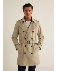 Mango - Classic Cotton Trench Coat - Lyst